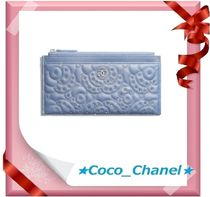 CHANEL ICON Leather Long Wallets