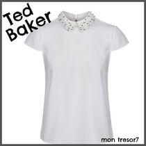 TED BAKER Plain With Jewels Elegant Style Shirts & Blouses