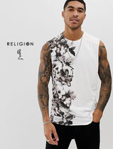 Religion Flower Patterns Street Style Tanks