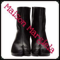Maison Martin Margiela Casual Style Plain Leather Block Heels Ankle & Booties Boots