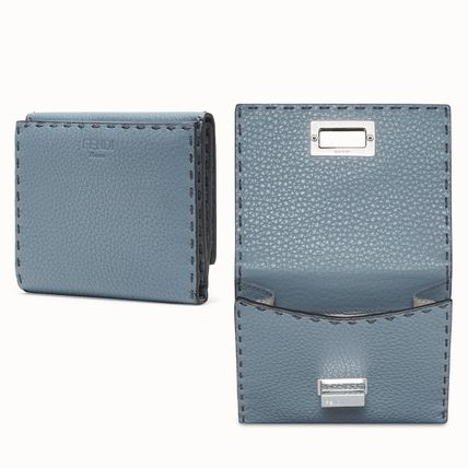 FENDI Folding Wallets Plain Leather Folding Wallets 9