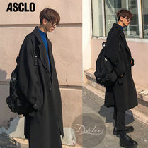 ASCLO Plain Long Oversized Chester Coats