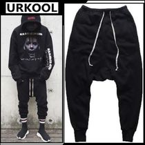 URKOOL Street Style Plain Cotton Sarouel Pants