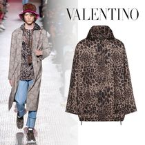 VALENTINO Leopard Patterns Windbreaker Jackets