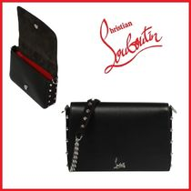 Christian Louboutin Studded Elegant Style Shoulder Bags
