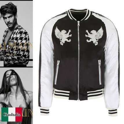 1b5161a64 BALMAIN 2019 SS Jackets (Embroidered Bomber Jacket, W8H2878T428 181)