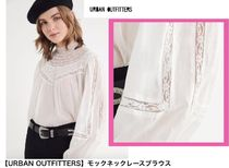 Urban Outfitters Lace-up Long Sleeves Elegant Style Shirts & Blouses