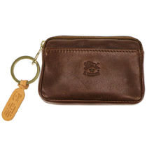 IL BISONTE Unisex Street Style Plain Leather Coin Cases