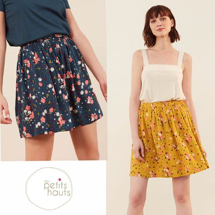 Flower Patterns Elegant Style Skirts