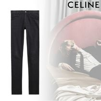 CELINE Unisex Denim Street Style Plain Skinny Fit Jeans & Denim