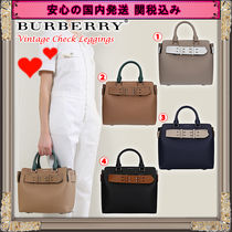 Burberry 2WAY Leather Elegant Style Handbags