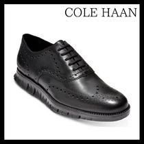Cole Haan ZEROGRAND Wing Tip Plain Leather Oxfords