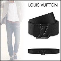 Louis Vuitton TAURILLON Blended Fabrics Street Style Bi-color Chain Plain Leather