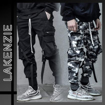 Camouflage Street Style Plain Cargo Pants