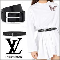 Louis Vuitton Unisex Blended Fabrics Plain Leather Elegant Style Belts