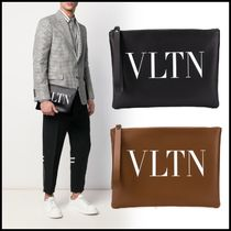 VALENTINO VLTN Leather Clutches