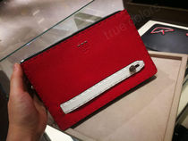 FENDI Calfskin Plain Clutches
