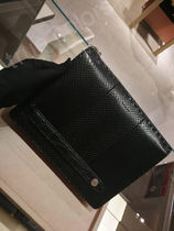 FENDI SELLERIA Plain Leather Python Clutches