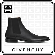 GIVENCHY Blended Fabrics Plain Leather Chelsea Boots Chelsea Boots