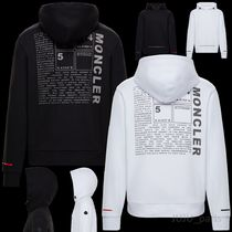 MONCLER Long Sleeves Plain Cotton Logos on the Sleeves Hoodies