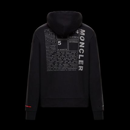 MONCLER Hoodies Long Sleeves Plain Cotton Logos on the Sleeves Hoodies 3