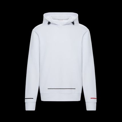 MONCLER Hoodies Long Sleeves Plain Cotton Logos on the Sleeves Hoodies 5