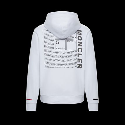 MONCLER Hoodies Long Sleeves Plain Cotton Logos on the Sleeves Hoodies 6