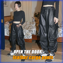 OPEN THE DOOR Unisex Faux Fur Street Style Cargo Pants