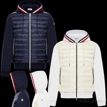 MONCLER Plain Logos on the Sleeves Cardigans
