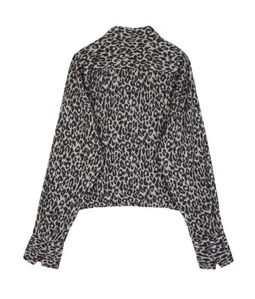 OPEN THE DOOR Shirts Leopard Patterns Street Style Oversized Shirts 4