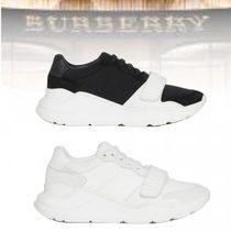 Burberry Rubber Sole Casual Style Plain Low-Top Sneakers