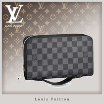 Louis Vuitton DAMIER GRAPHITE Unisex Canvas Bag in Bag Clutches