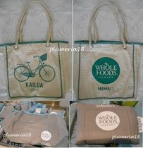 WHOLE FOODS MARKET Casual Style Canvas A4 Totes