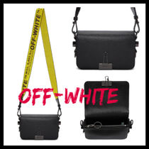 Off-White Casual Style Unisex Street Style Plain Leather Shoulder Bags