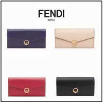 FENDI Blended Fabrics Leather Long Wallets