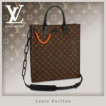 Louis Vuitton MONOGRAM Canvas Street Style A4 Chain Totes
