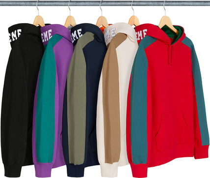 Supreme Hoodies Pullovers Unisex Street Style Long Sleeves Plain Cotton 5