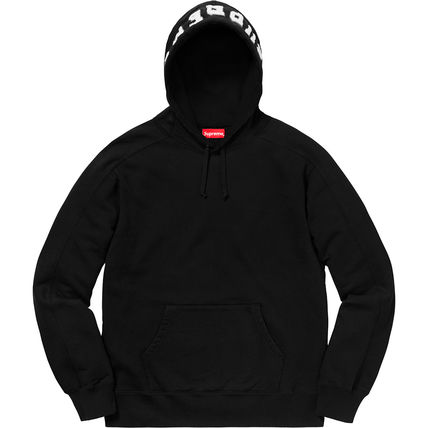 Supreme Hoodies Pullovers Unisex Street Style Long Sleeves Plain Cotton 2