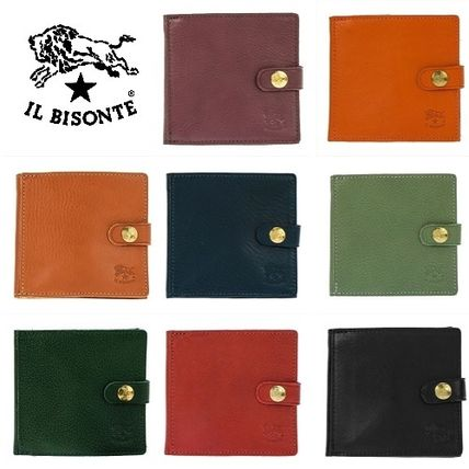 IL BISONTE Folding Wallets Unisex Plain Leather Folding Wallets