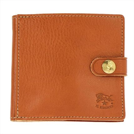 IL BISONTE Folding Wallets Unisex Plain Leather Folding Wallets 2