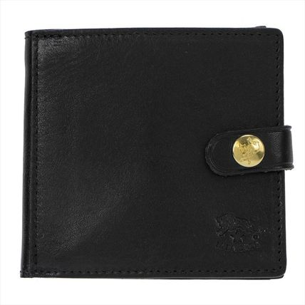 IL BISONTE Folding Wallets Unisex Plain Leather Folding Wallets 3
