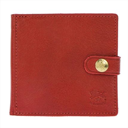 IL BISONTE Folding Wallets Unisex Plain Leather Folding Wallets 5