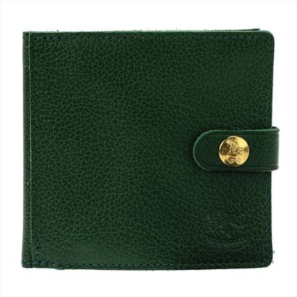 IL BISONTE Folding Wallets Unisex Plain Leather Folding Wallets 6