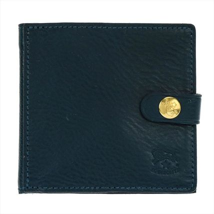 IL BISONTE Folding Wallets Unisex Plain Leather Folding Wallets 7
