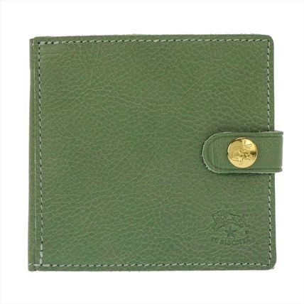 IL BISONTE Folding Wallets Unisex Plain Leather Folding Wallets 8