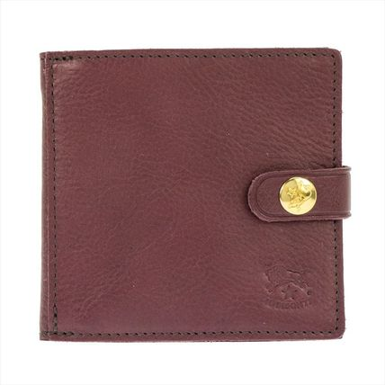 IL BISONTE Folding Wallets Unisex Plain Leather Folding Wallets 9