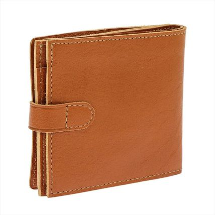 IL BISONTE Folding Wallets Unisex Plain Leather Folding Wallets 10
