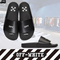 Off-White Stripes Plain Handmade Shower Shoes Shower Sandals