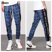 Dezzn Printed Pants Gingham Street Style Patterned Pants