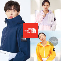 THE NORTH FACE WHITE LABEL Unisex Street Style Bi-color Long Sleeves Oversized